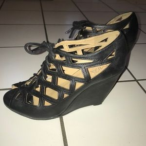 c8136d3a2 Mia Shoes - MIA Girl Quincy Black Wedges